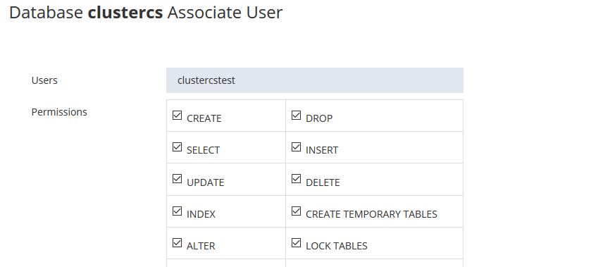 Asociate an database to an user